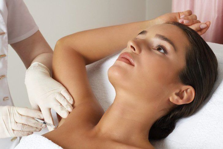 Процедура вкалывания ботокса от гипергидроза