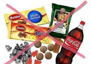 исключить следующие продукты