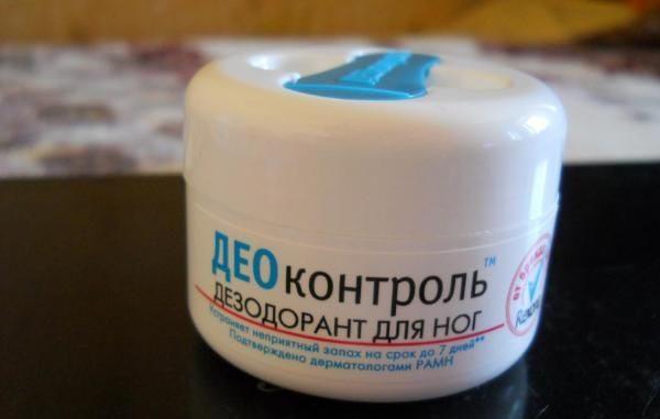 Део контроль дезодорант - крем для ног