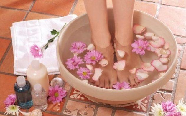 Правила для принятия ножных ванночек