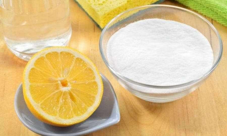 Выведение пятен при помощи гидроперита и лимонного сока