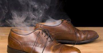 Запах пота в кожаной обуви