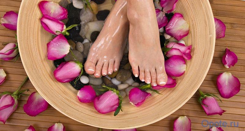 ванночки, потливость ног
